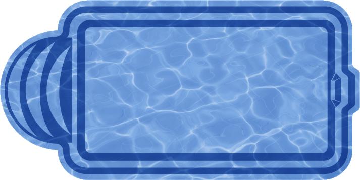 Композитный бассейн Валенсия 6,0х3,0х1,48 м